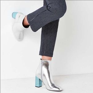 NEW Urban Outfitters Aries Ankle Boot Glitter Heel